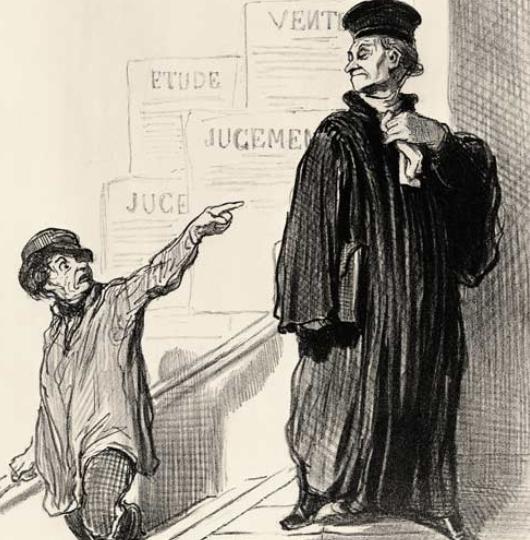 Ein unzufriedener Klient - Daumier