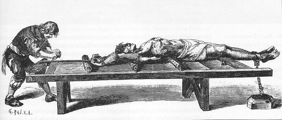 Folterinstrument Streckbett - es war nur zu seinem Besten!